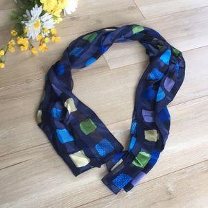 Accessories - 💙 Vintage Plaid Silk Blue Scarf 💙